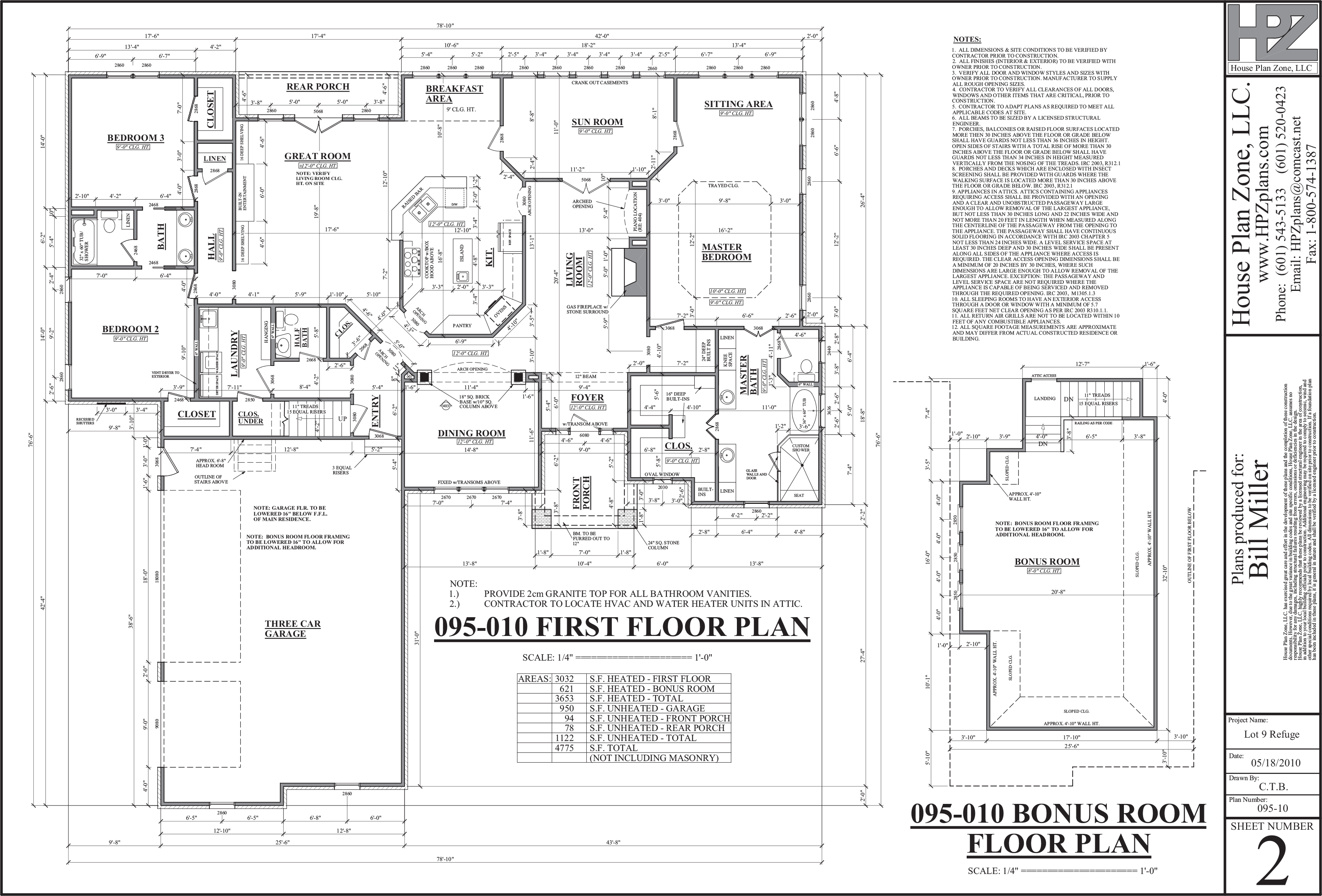 The refuge house plans flanagan construction for House blueprints